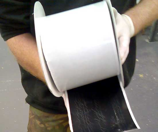 Wide single sided corner tape