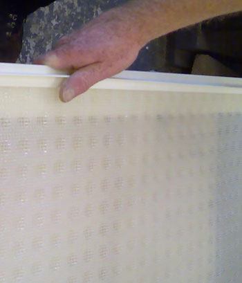 Mesh Membrane showing Profile Strip top edging option